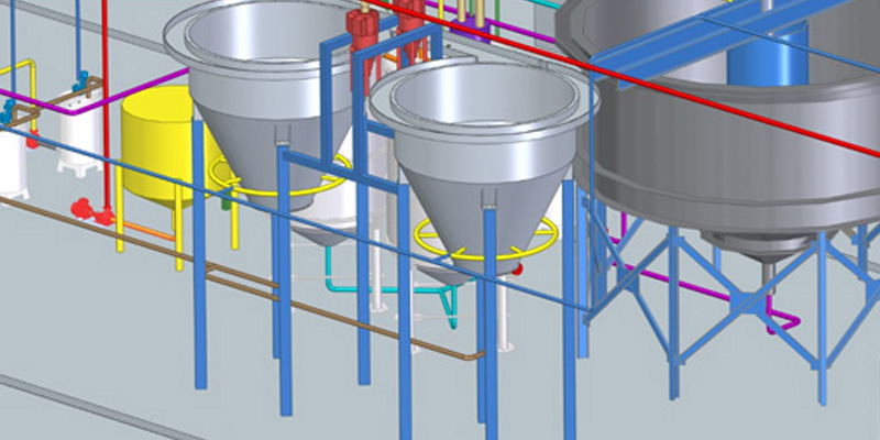 System for hydraulic filling (with tanks) 1